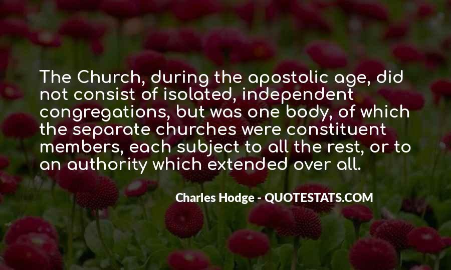 Apostolic Church Quotes #1571934