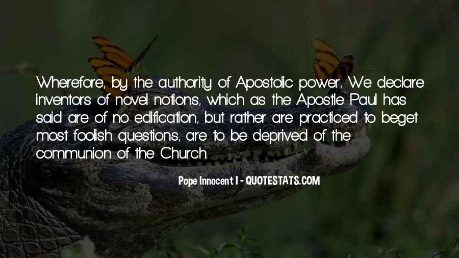 Apostolic Church Quotes #1669690