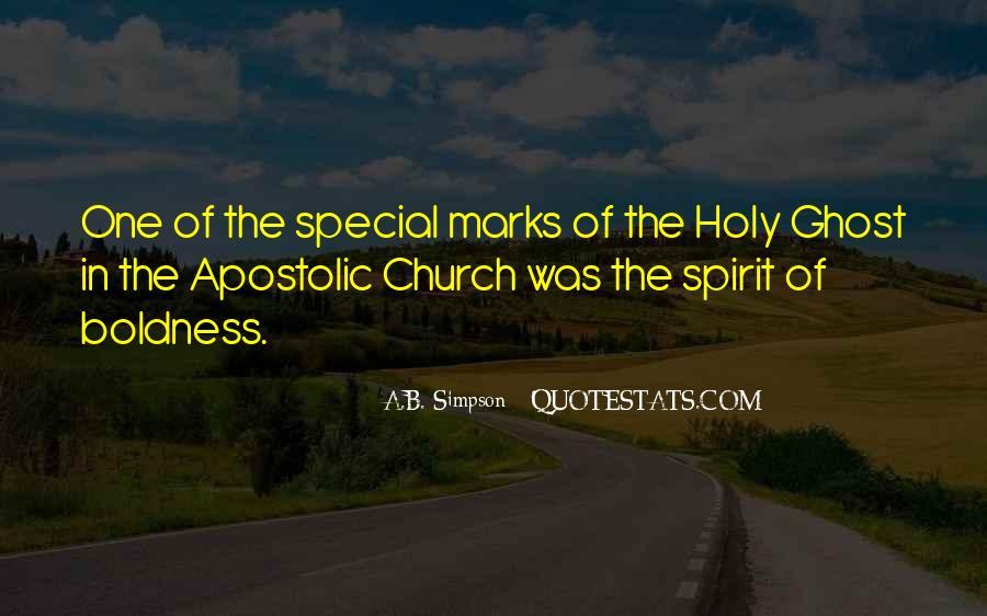 Apostolic Church Quotes #1879397