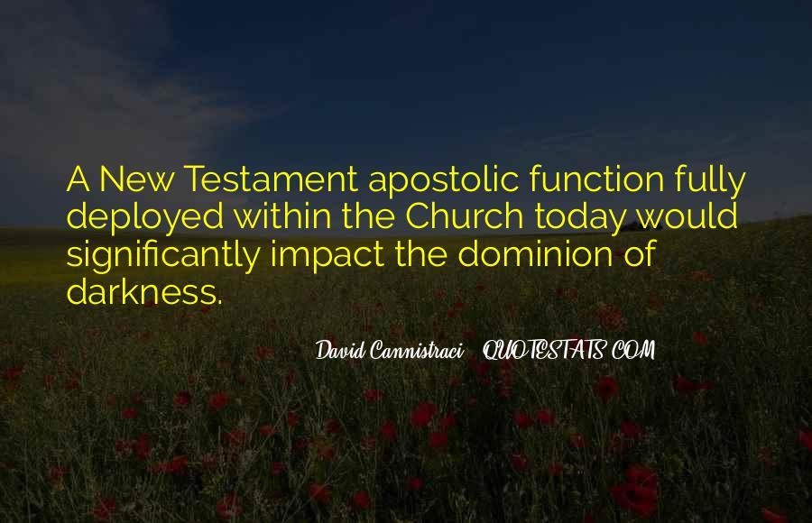 Apostolic Church Quotes #803291