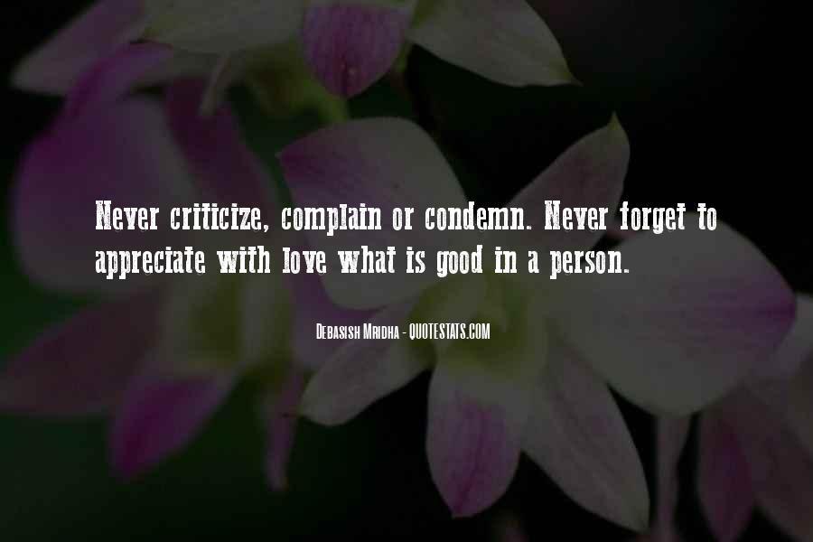 Appreciate The Person You Love Quotes #1700318