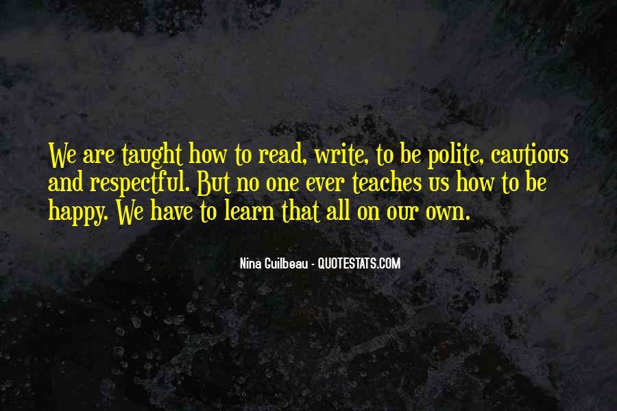 Are We Happy Quotes #14304