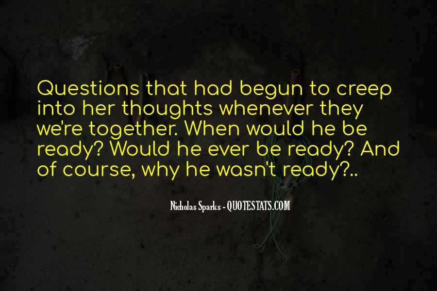 Are You Ready For Love Quotes #238458