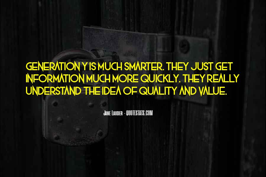 Quotes About The Y Generation #1119216