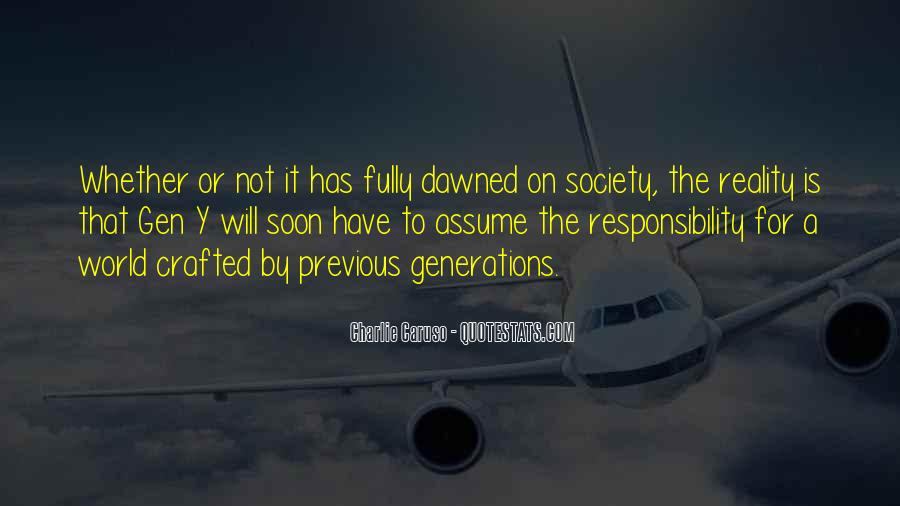 Quotes About The Y Generation #1358200