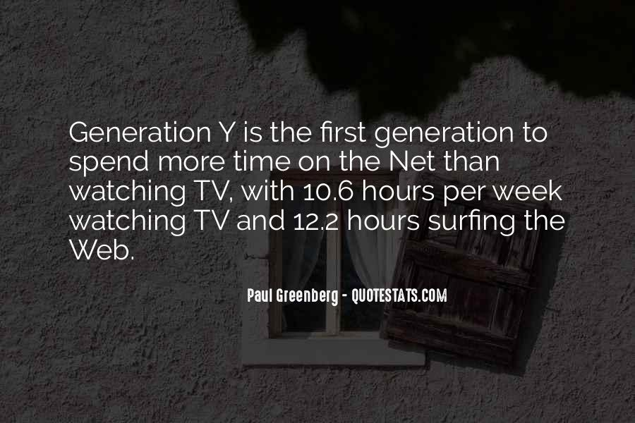 Quotes About The Y Generation #642739