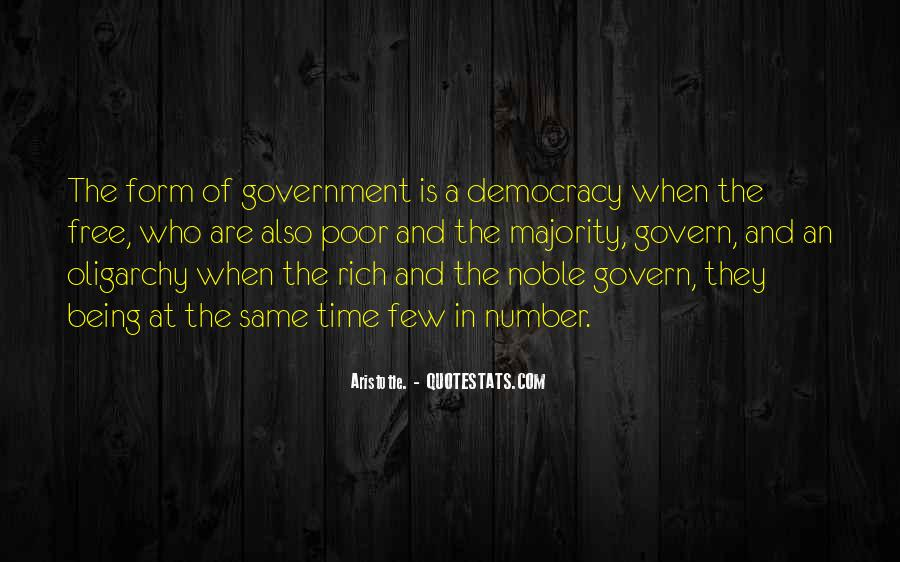 Aristotle Democracy And Oligarchy Quotes #1036222