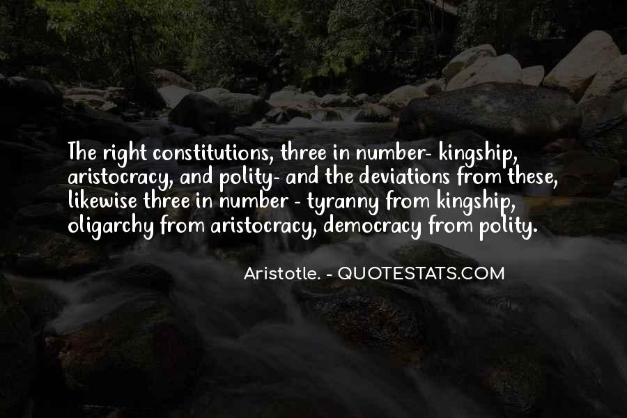 Aristotle Democracy And Oligarchy Quotes #1344885