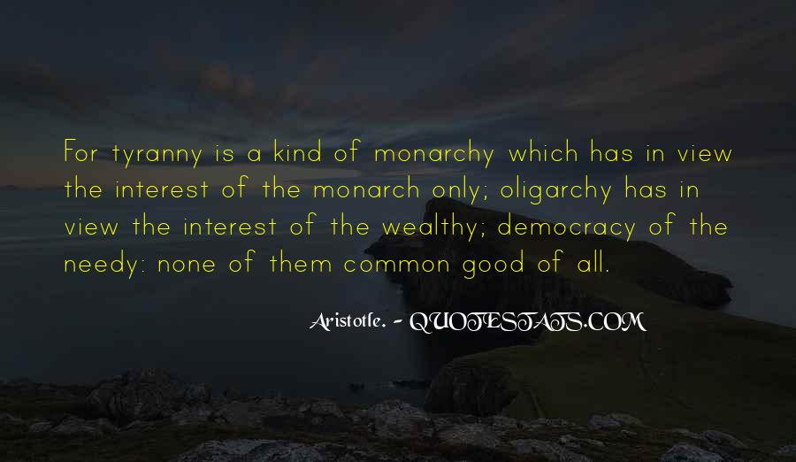 Aristotle Democracy And Oligarchy Quotes #1612038
