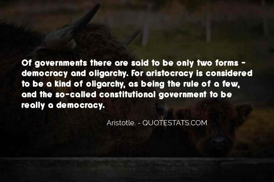Aristotle Democracy And Oligarchy Quotes #1820005