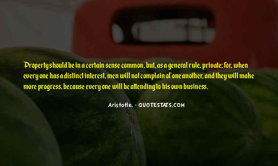 Aristotle Private Property Quotes #107616