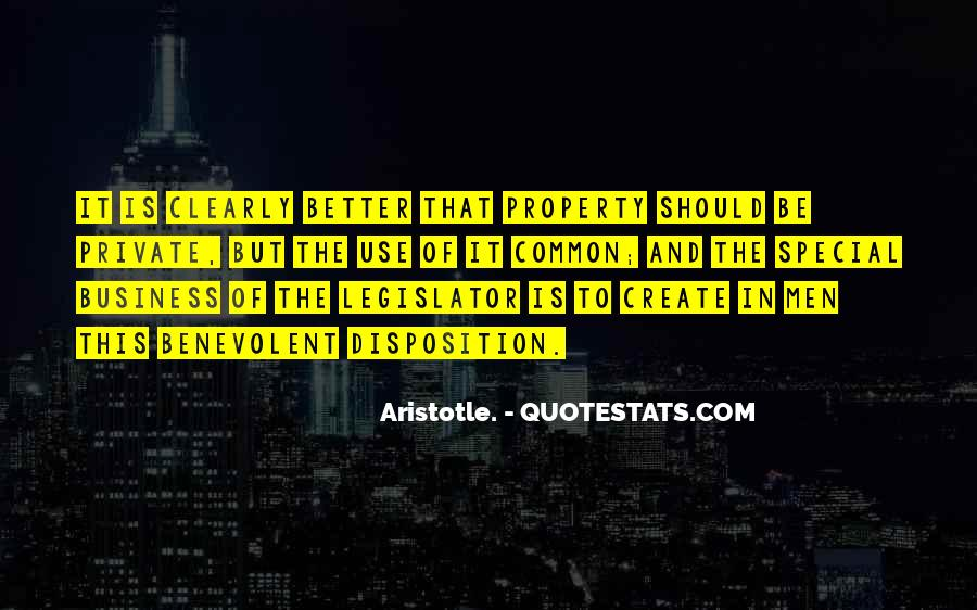 Aristotle Private Property Quotes #1843574