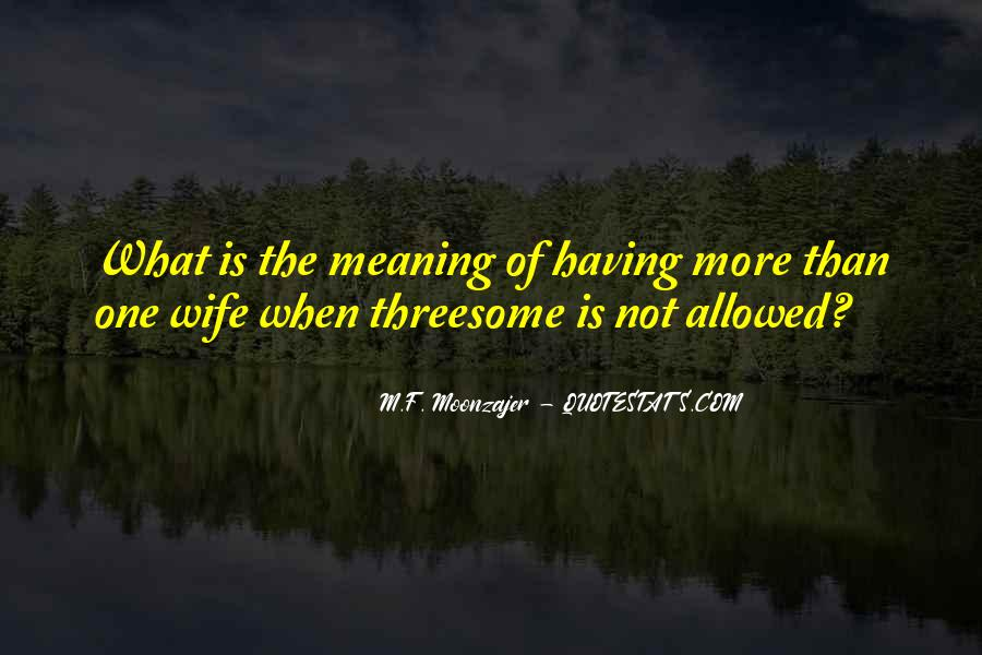 Quotes About More Than One Wife #870927