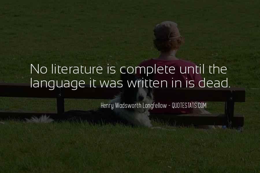 Quotes About The Written Language #11122