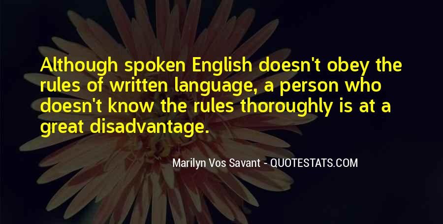 Quotes About The Written Language #1119745
