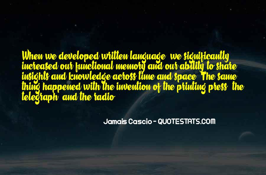 Quotes About The Written Language #1283917