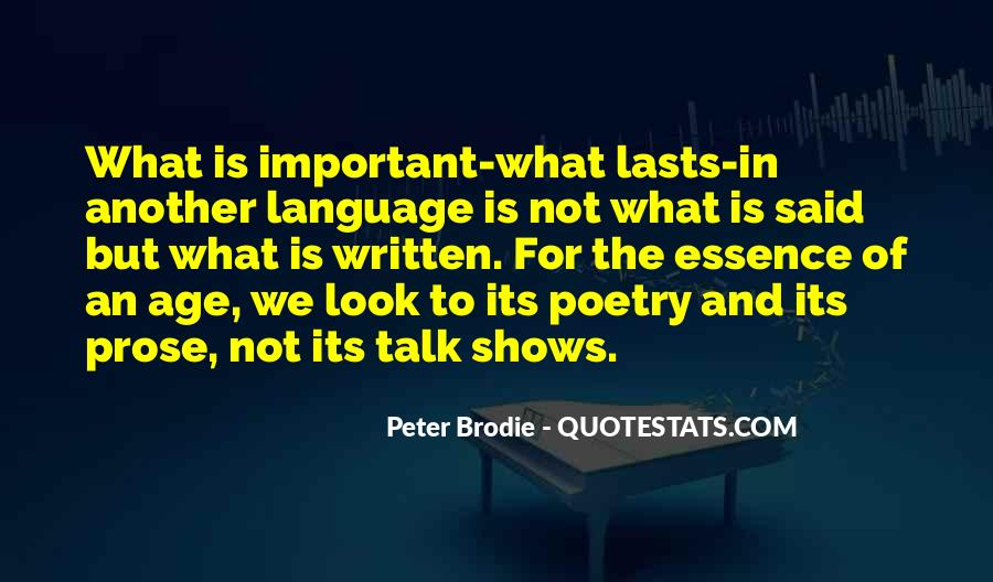 Quotes About The Written Language #1348965