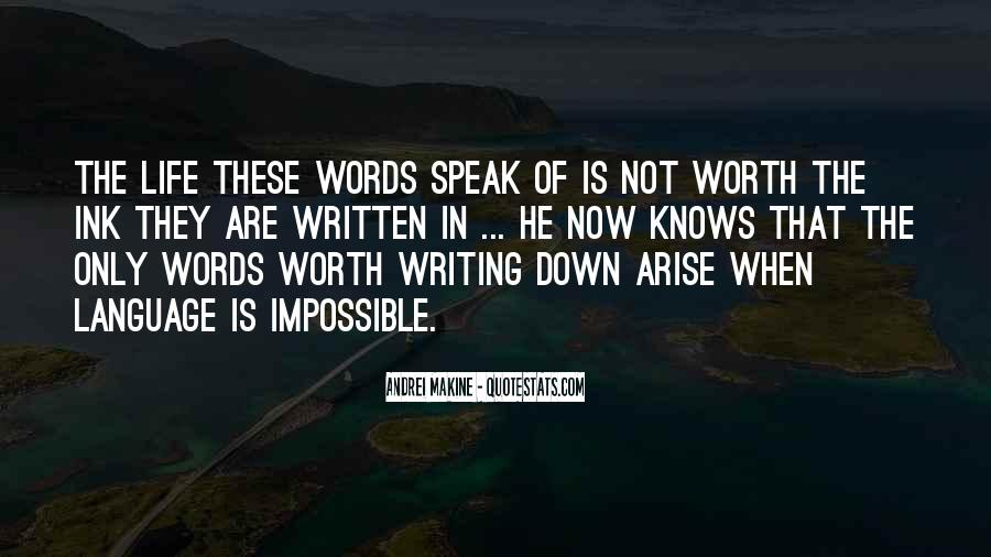 Quotes About The Written Language #1383964