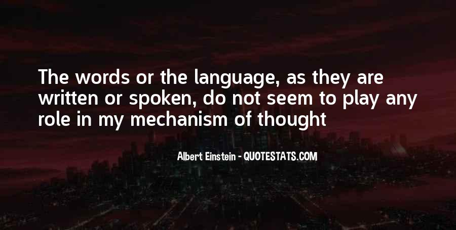Quotes About The Written Language #141486