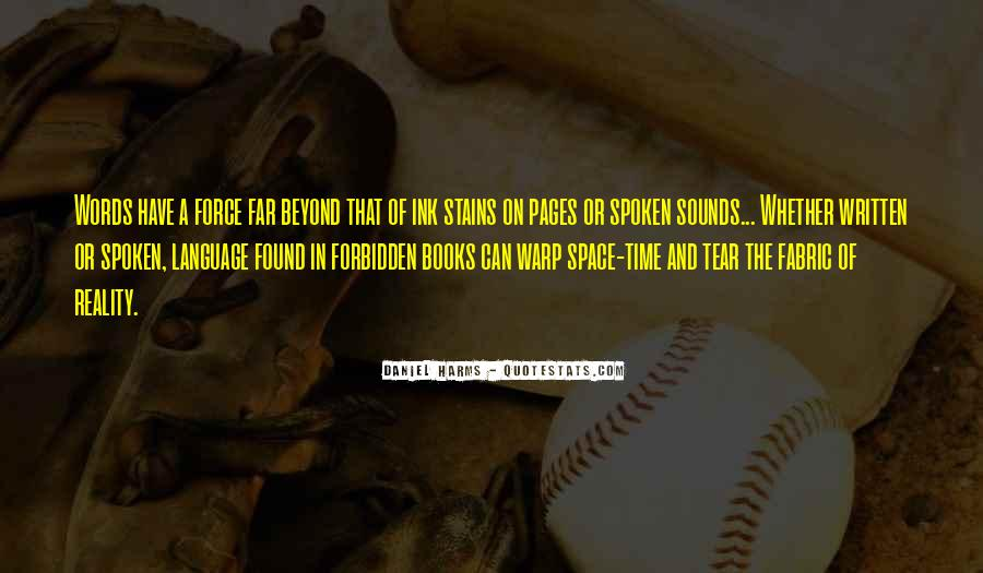 Quotes About The Written Language #1553827
