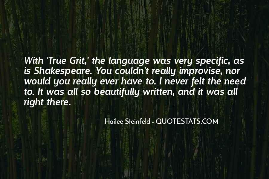 Quotes About The Written Language #169092