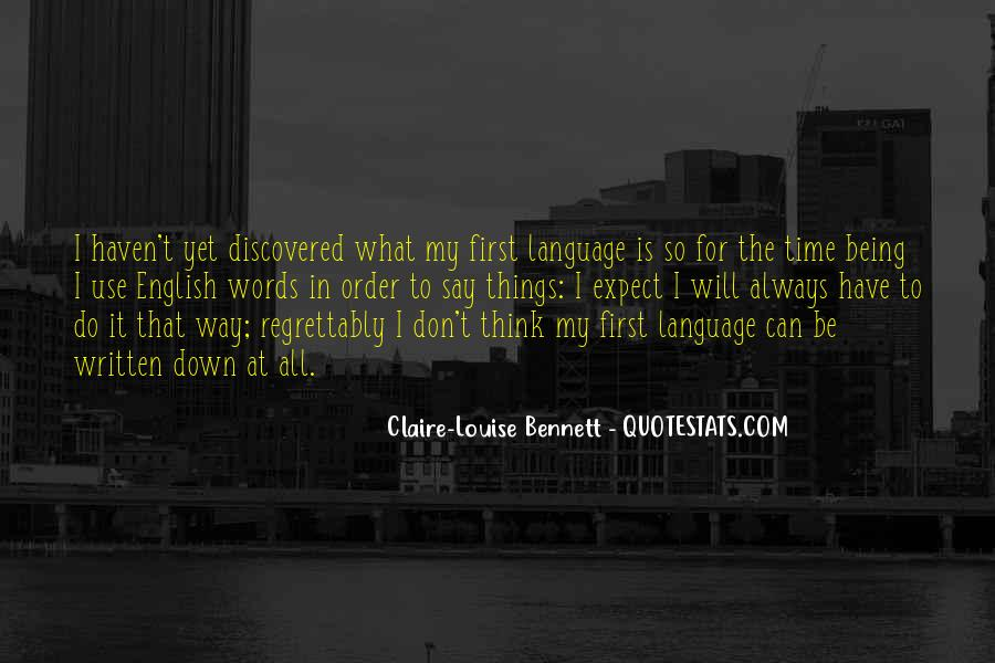 Quotes About The Written Language #537319