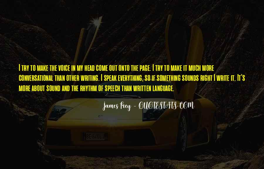 Quotes About The Written Language #60275