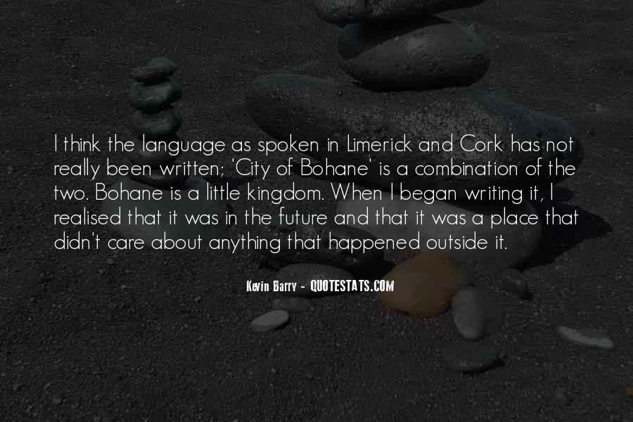 Quotes About The Written Language #626348