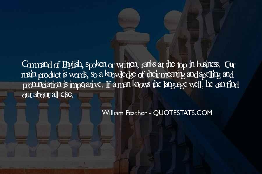 Quotes About The Written Language #726440