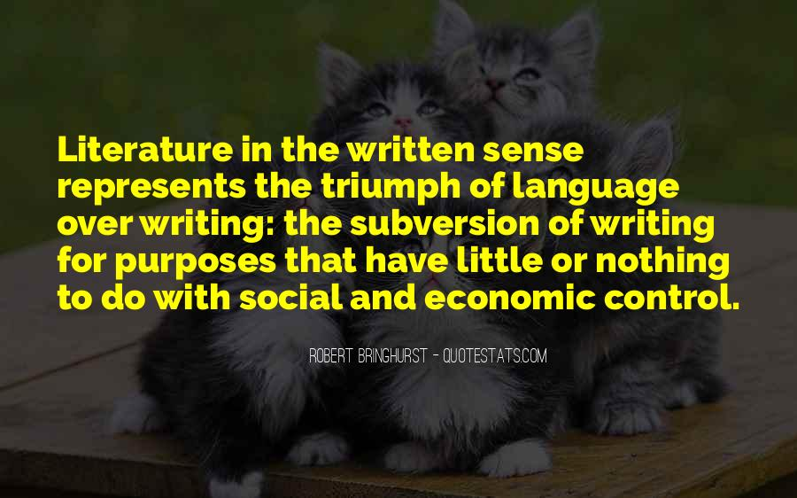 Quotes About The Written Language #811093