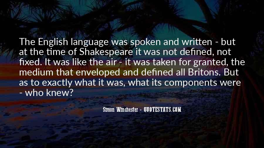 Quotes About The Written Language #823784