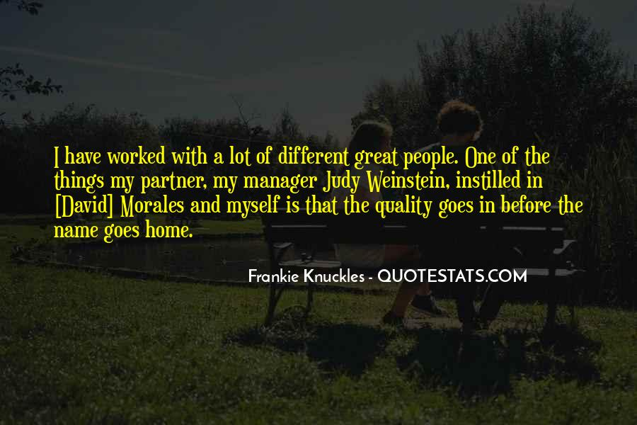 Quotes About Morales #104678
