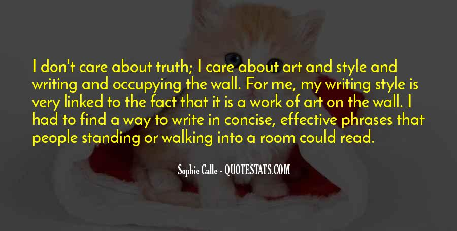 Quotes About The Writing On The Wall #192982