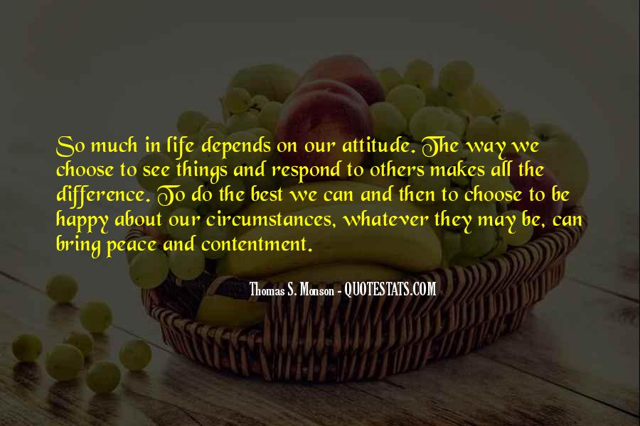 Attitude Depends On You Quotes #124089