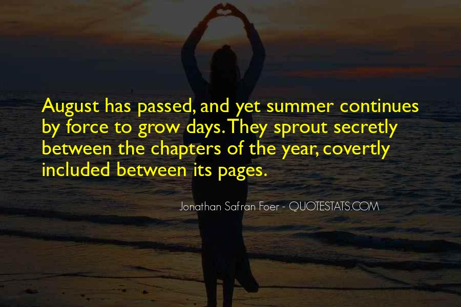 August Summer Quotes #1123159