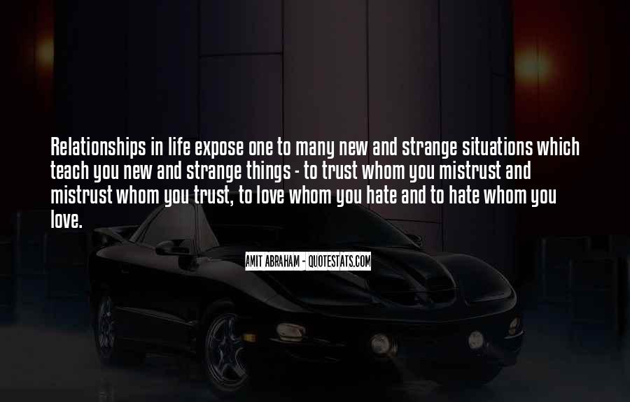 Quotes About Mistrust In Relationships #1376380