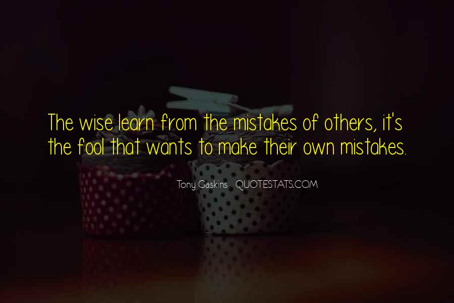 Quotes About Mistakes Of Others #1189582