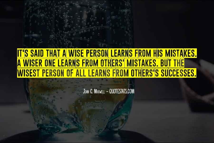 Quotes About Mistakes Of Others #1708312