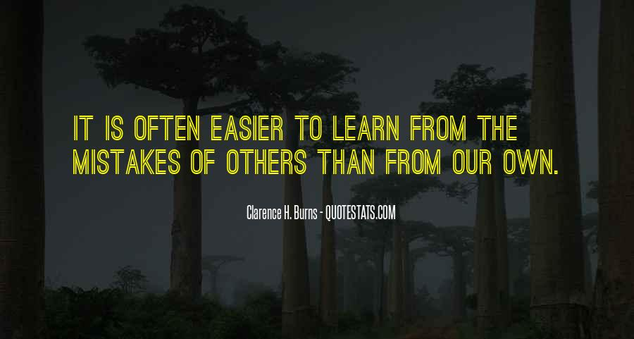 Quotes About Mistakes Of Others #1819744