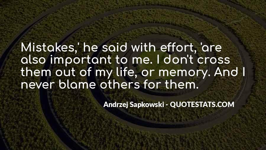 Quotes About Mistakes Of Others #24313