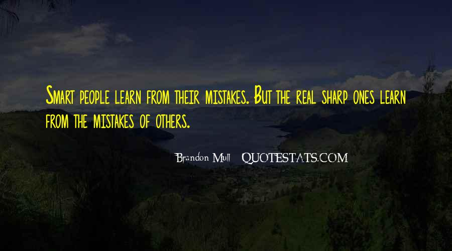Quotes About Mistakes Of Others #39796