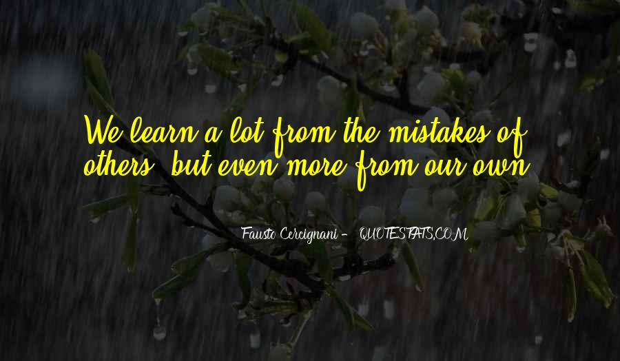 Quotes About Mistakes Of Others #502238