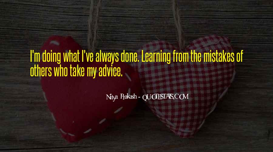 Quotes About Mistakes Of Others #547390
