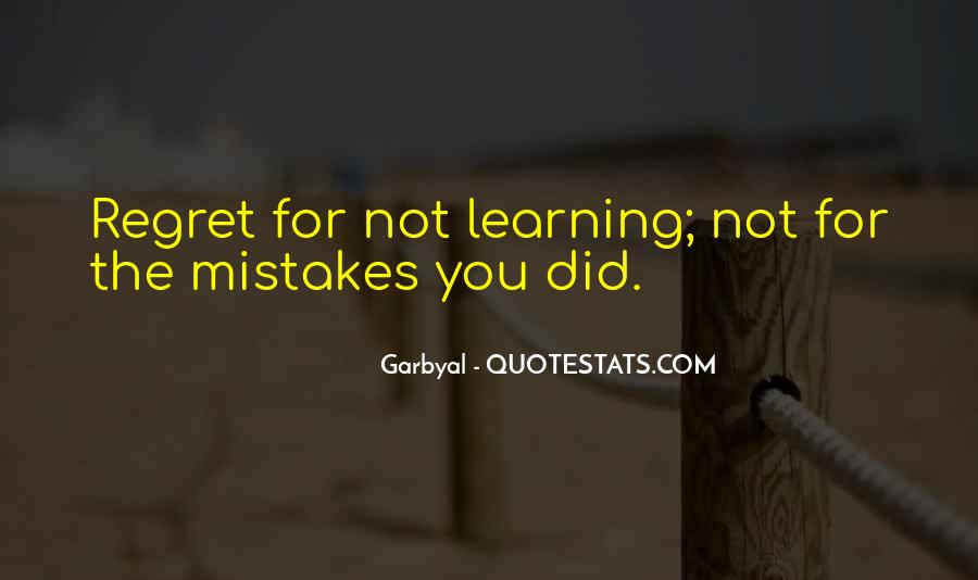Quotes About Mistake And Regret #1384553