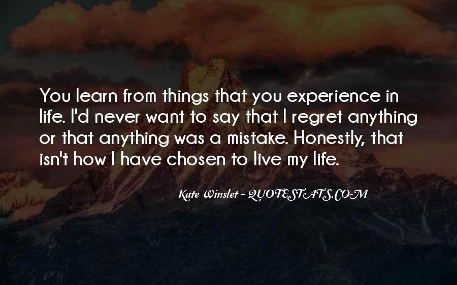 Quotes About Mistake And Regret #1386028