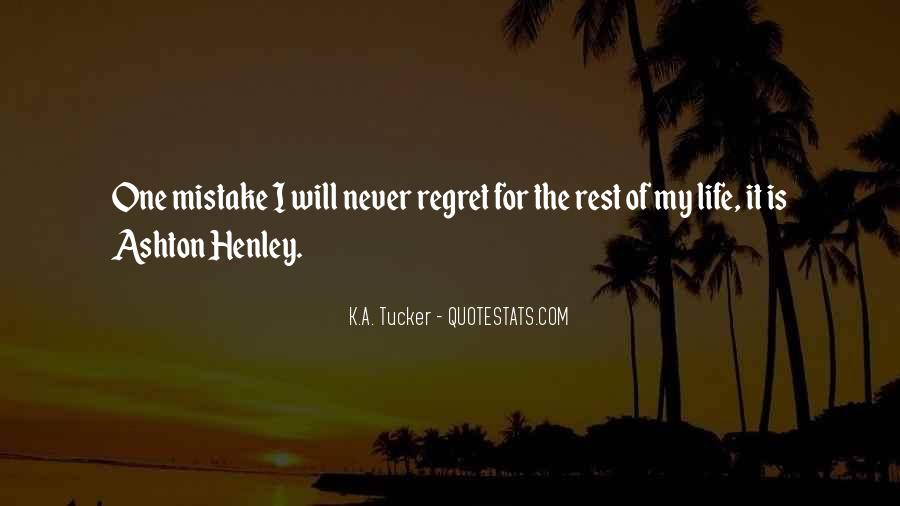 Quotes About Mistake And Regret #591158
