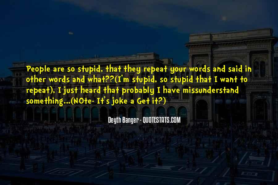 Quotes About Missunderstand #69707