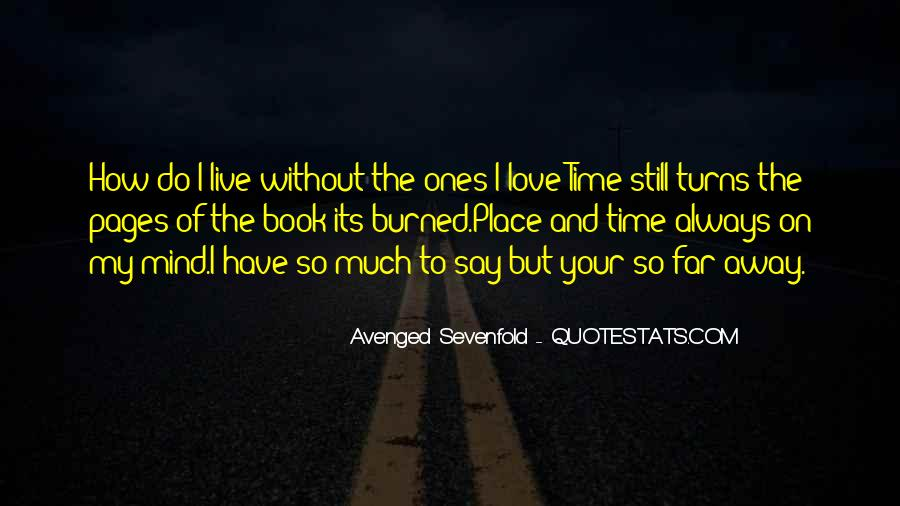Avenged Sevenfold Love Quotes #353528