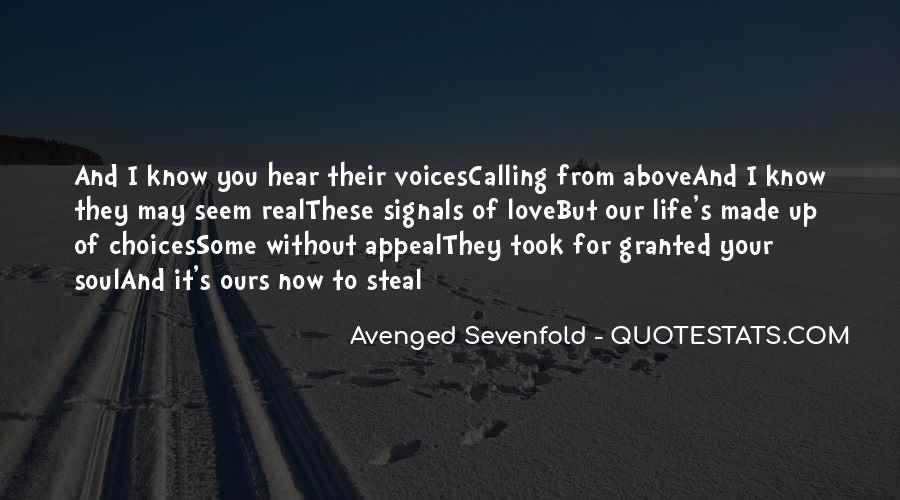 Avenged Sevenfold Love Quotes #792757