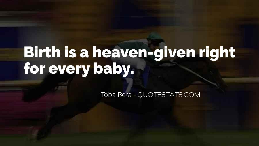 Baby Birth Quotes #135110